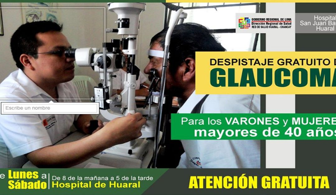 Hospital de Huaral realiza despistaje gratuito de Glaucoma (VIDEO)
